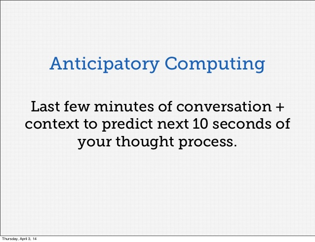 anticipatory computing
