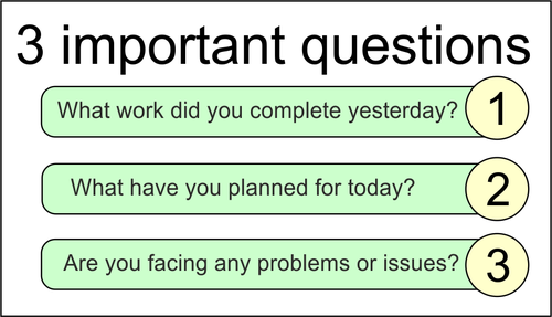 daily scrum questions