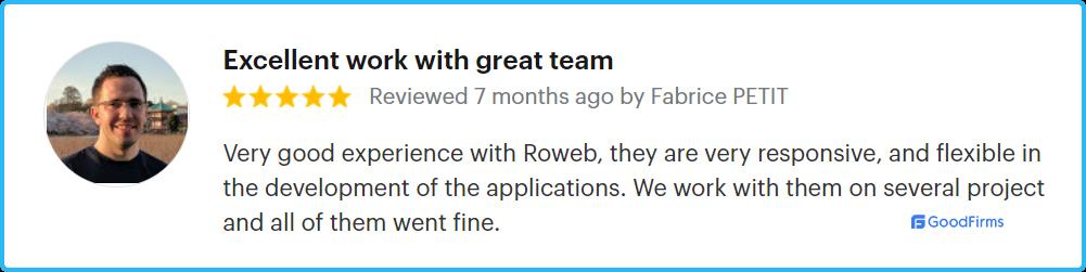 Roweb dedicated team model