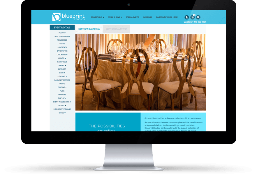Roweb development blueprint studios continues to build the largest collection of cutting edge event rental furnishings their vast inventory enhances customers ability malvernweather Choice Image